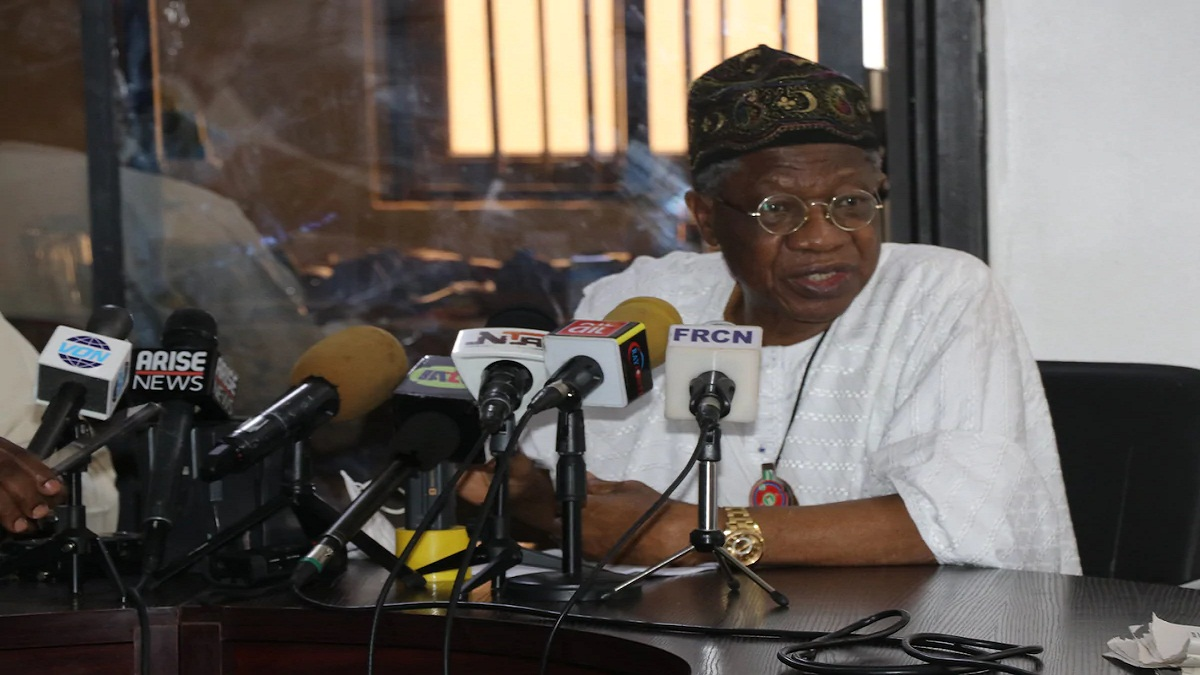 Insecurity: This is Buhari's final decision on calls for his resignation - Lai Mohammed