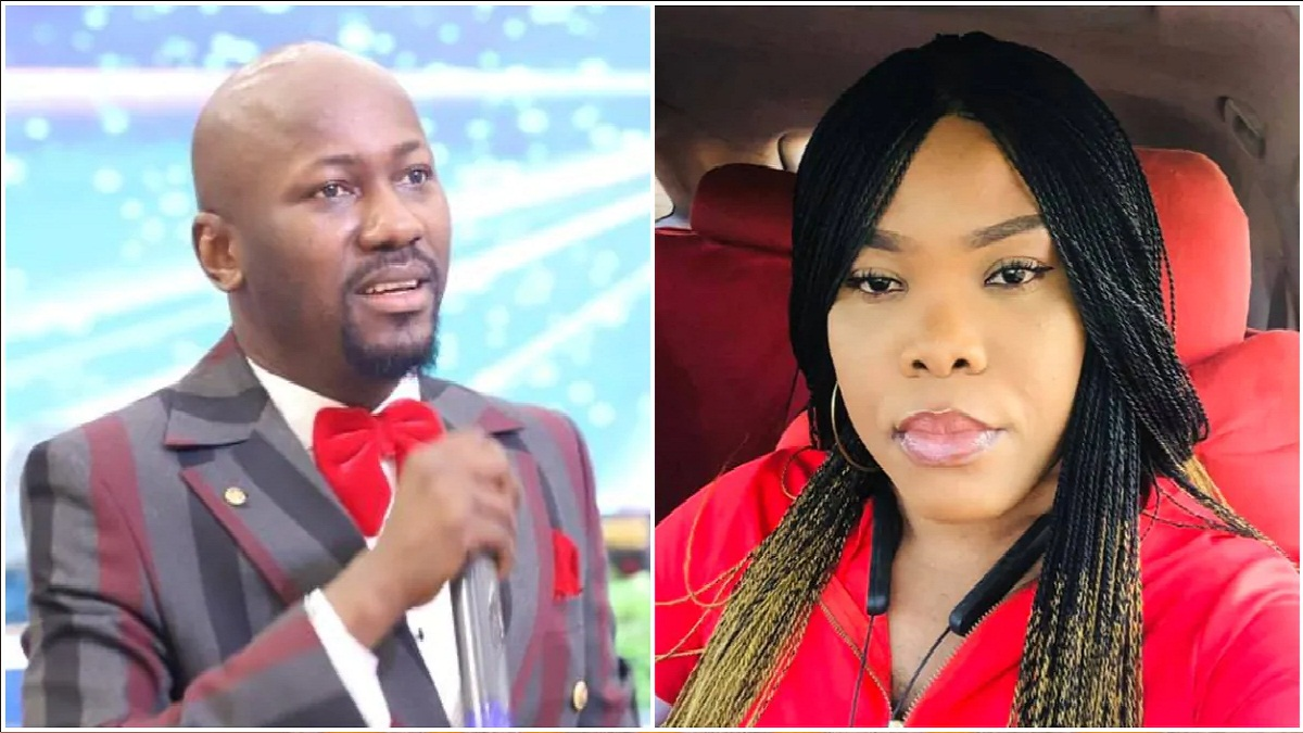 Alleged scandal: Pastor's wife accused of sleeping with Apostle Suleman finally break.....