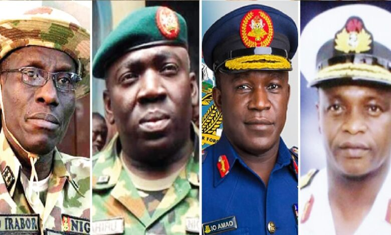 20 Generals May Step Down As Buhari Replaces Buratai, Olonisakin, and other Service Chiefs