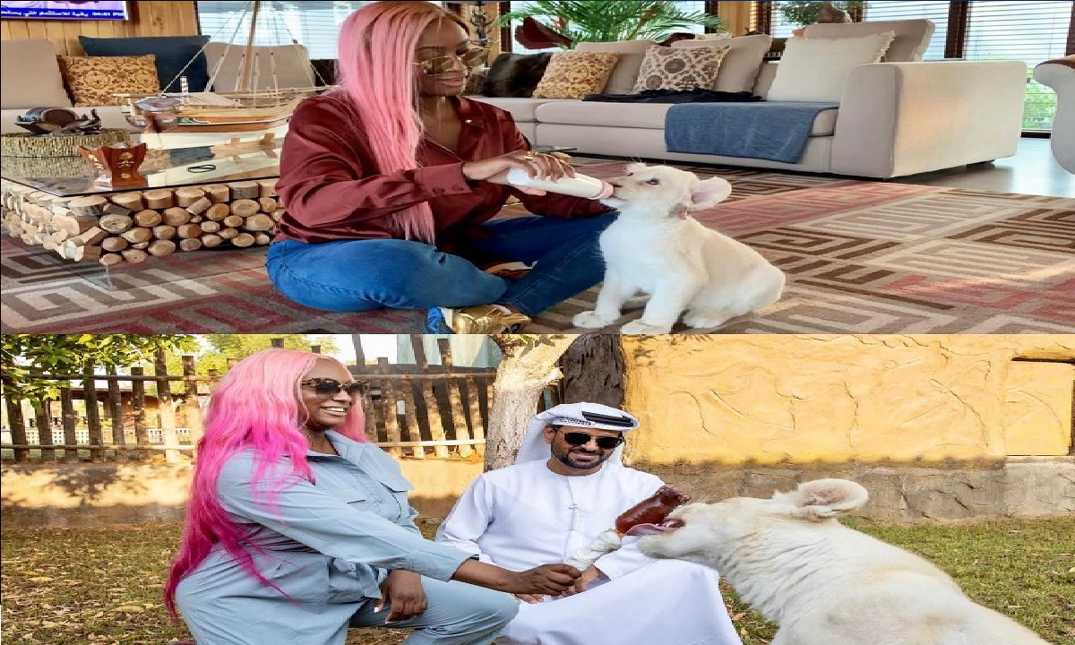 DJ Cuppy and a Lion named after her in new photos