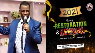 MFM General Overseer, Dr. Olukoya Release 34 Prophecies for 2021