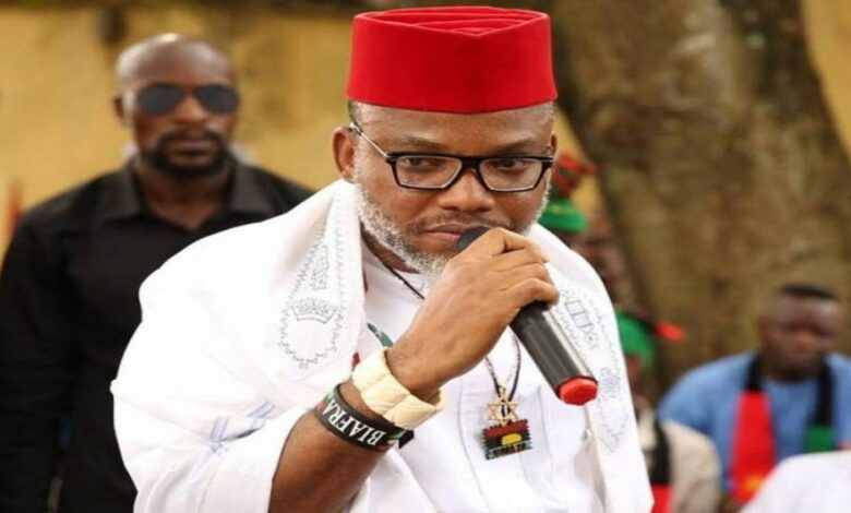"Nnamdi Kanu released the names of 62 prominent Nigerians ""responsible for the present Nigeria problems"""