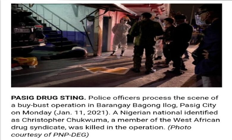 Another Nigerian Killed In Philippines Drug Trade