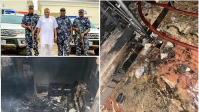 BREAKING: Police reveal those who set Sunday Igboho's house ablaze in Ibadan, give details