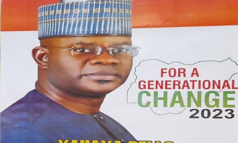 2023 Presidency: Yahaya Bello presidential campaign posters flood Kano in the New Year