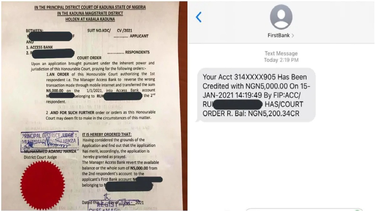 Nigerian Man Drags Lady to Court to Return N5k He Sent after She Failed to show up