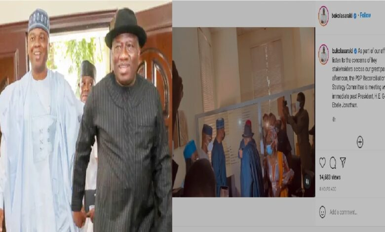 Leaders In The PDP Meet Goodluck Jonathan Amid Defection Rumour (Video)
