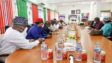 Saraki-led Reconciliation Committee of the PDP At A Private Meeting With Ex-Govs