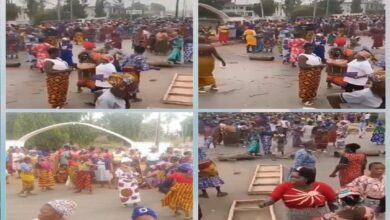 #FulaniMustGo': Women Protest Rocks Edo, Major Roads Blocked(Video)