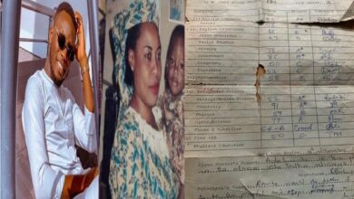 """No wonder she almost beat me to death,""- Man reacts to his mother's high school result in 1985"