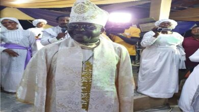 VIDEO: Afro Juju Legend, Sir Shina Peters, Ordained As Bishop(Photos)