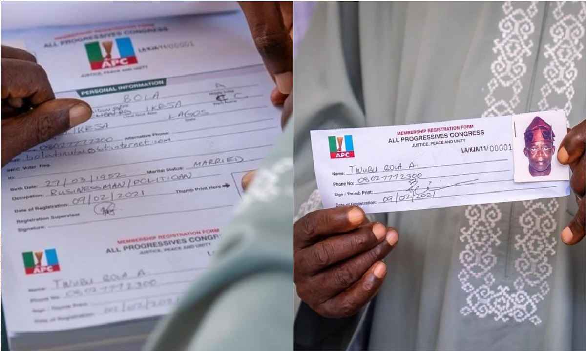 Everything is wrong: Mixed reactions as Nigerians spot 'errors' on Tinubu's APC registration form