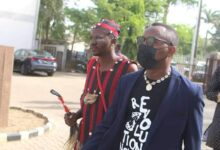 """Man In """"Juju Dress"""" Follows Sowore To Court, The War Is Beyond The Physical"""