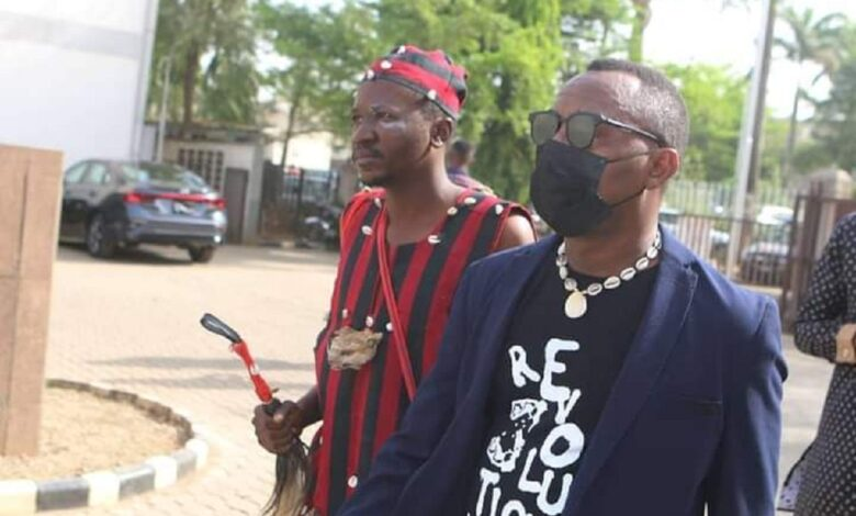 "Man In ""Juju Dress"" Follows Sowore To Court, The War Is Beyond The Physical"