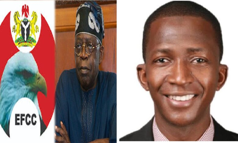 Tinubu cries to Buhari 'My Hands Are Clean' as EFCC go after him