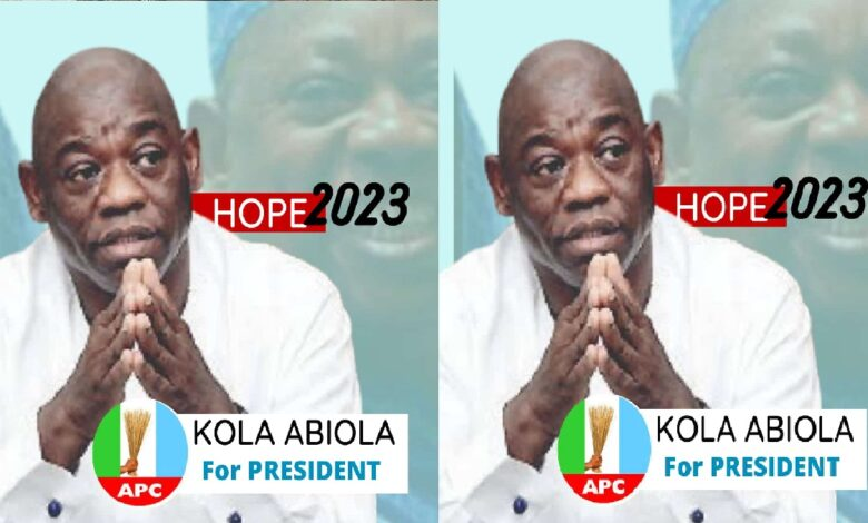 2023: Kola Abiola Presidential Campaign Poster Gets To Public