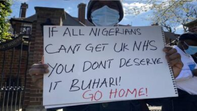 Buhari supporters were paid £75 each to protest