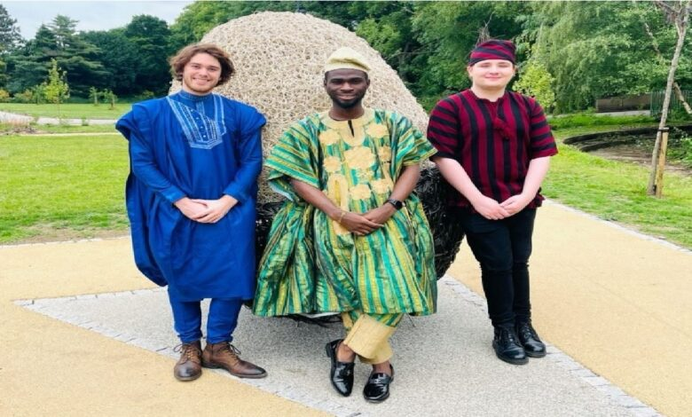 Nigerian Student In UK Causes Stir With Pictures Of White Friends In Babariga