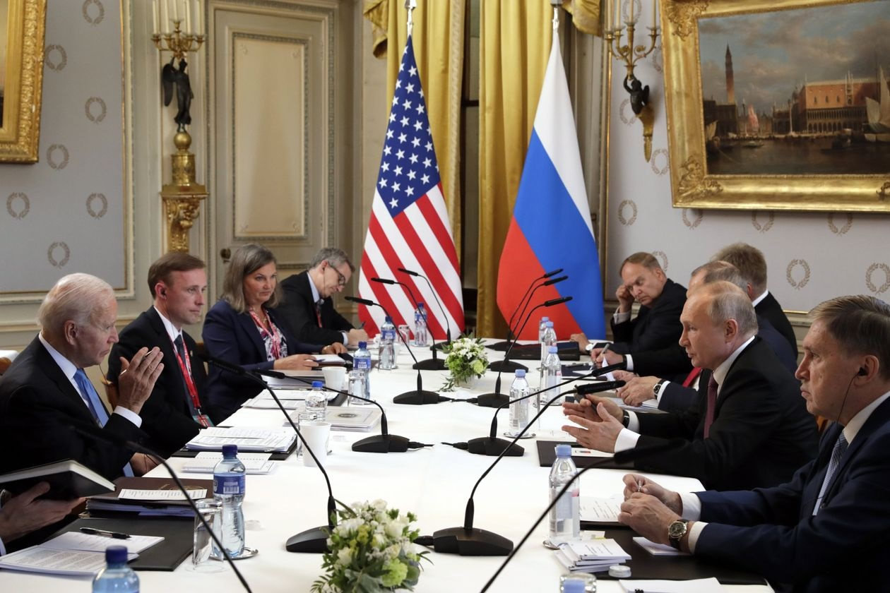 President Biden and Russian President Vladimir Putin sought to ease tensions during a high-profile summit, even as the Russian leader denied involvement in cyberattacks and Mr. Biden warned of unspecified consequences for future cyber-aggression or harm to jailed Russian dissident Alexei Navalny.