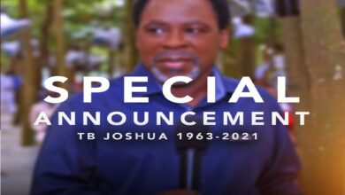 Obituary: Prophet TB Joshua's Burial Date Announced By SCOAN