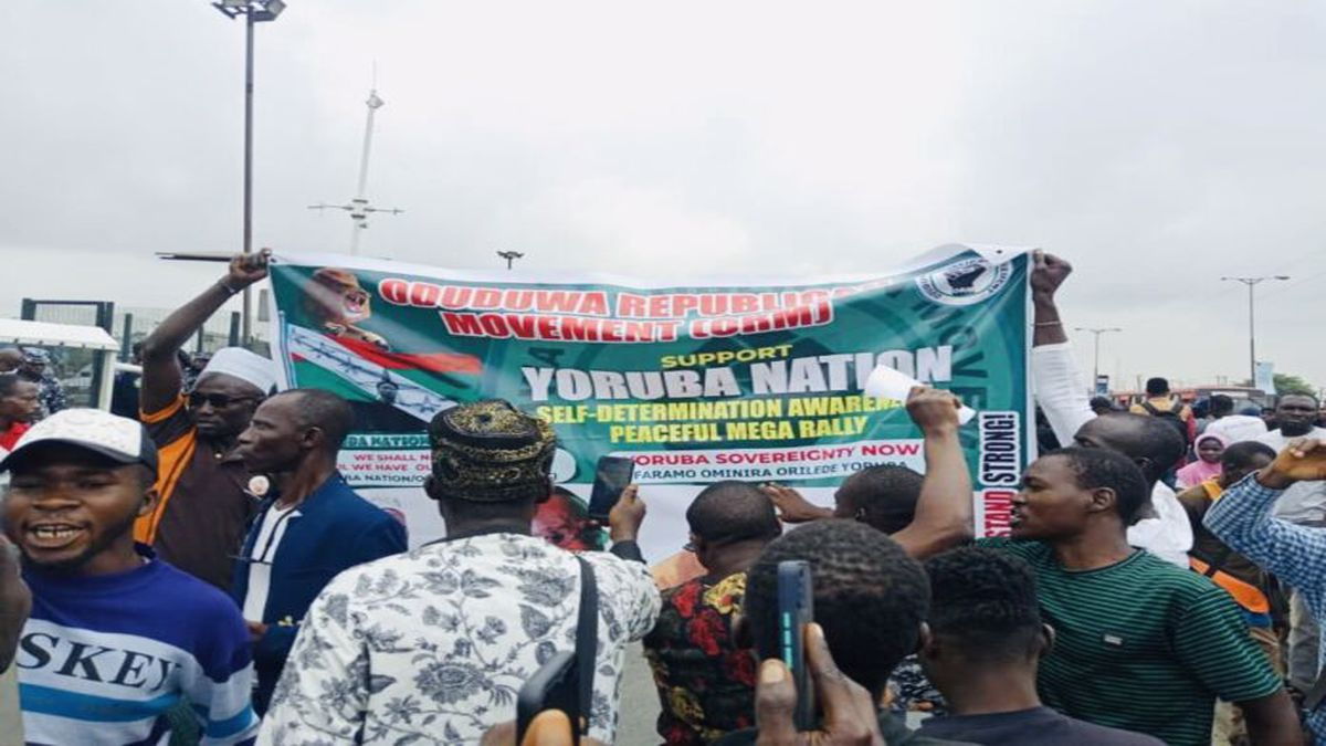 How Yoruba Nation Lagos Rally Protesters 'tricked' Security Operatives