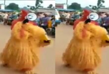 VIDEO: Igbo Masquerade Preaches The Gospel Of Jesus Christ On The Street