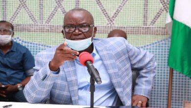 """Governor Samuel Ortom of Benue State, on Tuesday, vowed never to surrender any land to Fulanis in the state. Ortom said he would rather die than surrender his land to the Fulani """"who have made over a million homeless in his state."""" The governor spoke in Markudi, the state capital, while receiving in audience the Medecins Sans Frontieres, also known as Doctors without Borders. He lamented that herders have killed, raped and rendered some people of the state homeless. Ortom berated the Nigerian government for paying lip service to its fight against insecurity. Ortom insisted that the President Muhammadu Buhari-led government has refused to apprehend killer herders, despite having the capacity to arrest them. He said, """"Our people are dying, our women, mothers are being raped, our children can't go to school, they are suffering. """"These criminals, they display themselves on social media, claiming they are here for an agenda to drive our people away and take over their land and also kill them. """"And they are here courtesy of the Federal Government but for me, if they come, then I'm ready to die rather than to surrender my land to Fulani men. If God didn't protect me, then I need no help from anybody."""""""