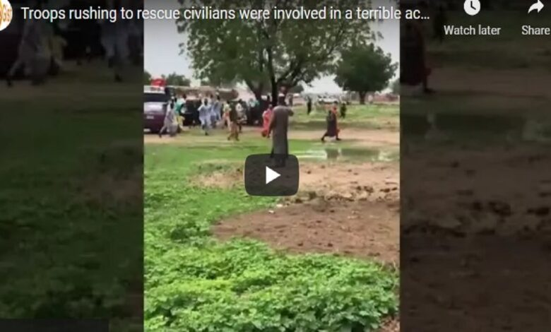 #BOKOHARAM: Troops rushing to rescue civilians were involved in a terrible accident (VIDEO)
