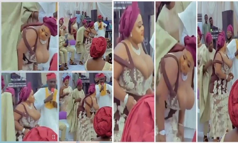 VIDEO: Busty Nigerian Lady Scatters The Dance Floor At A Wedding Reception