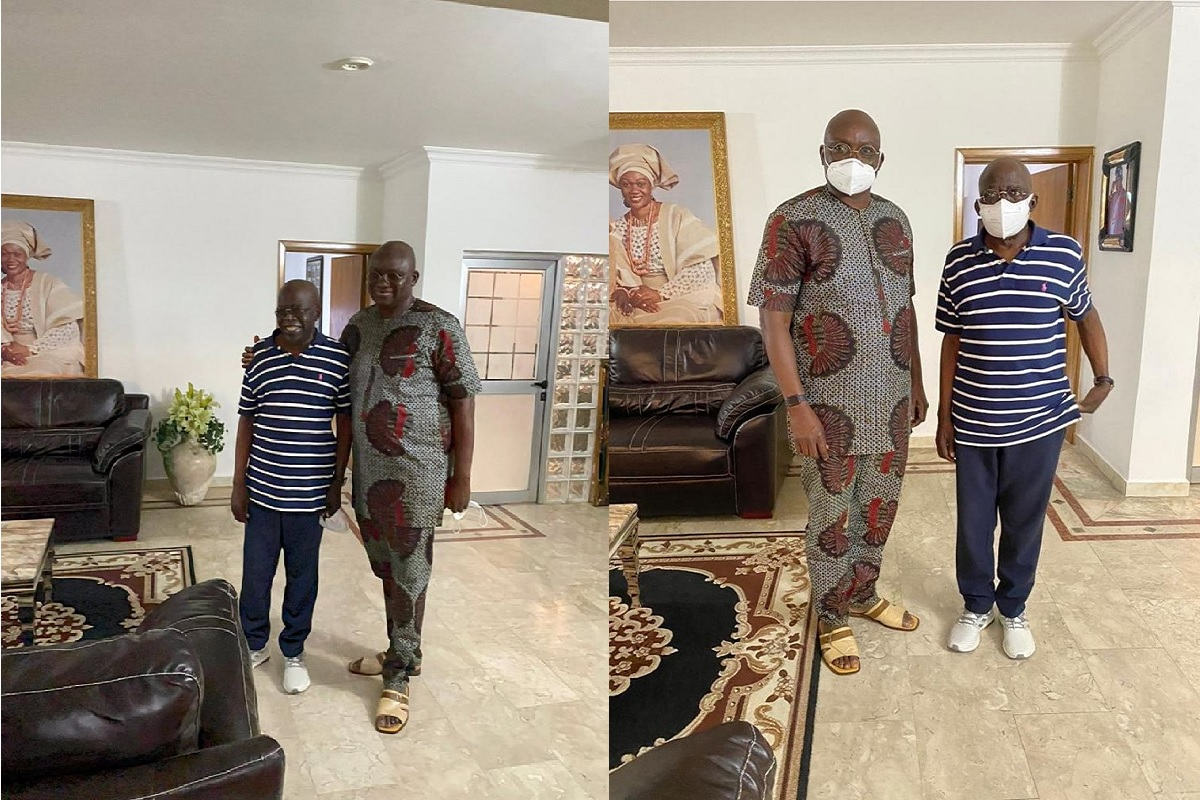 PHOTO: Fayose visits Tinubu in Lagos, says people don't celebrate others when they are alive