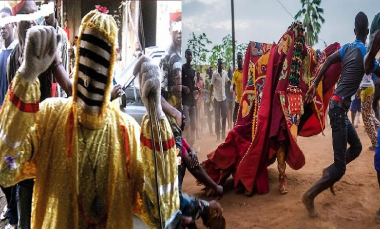 Men of the Ondo State Police Command have arrested two masquerades, Sheriff Ojo and Muhammad Lukman for stealing N370,000.